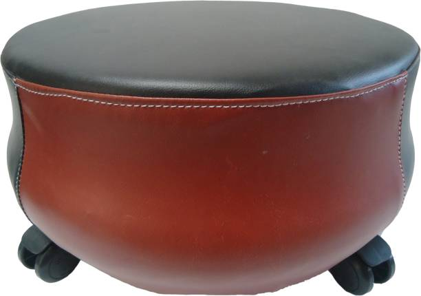 RAJCHEIF Stool for Kitchen, Balcony Stool, Outdoor Indoor Stool, tayr Stool, Mehndi Stool pu fom Sheet, Leather Best Quality with 4 Wheels Set of - 1 Piece Living & Bedroom Stool