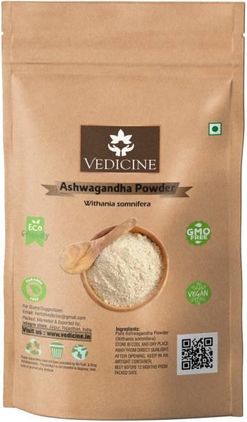 VEDICINE Ashwagandha Powder 100 grams (Withania somnifera) Powder