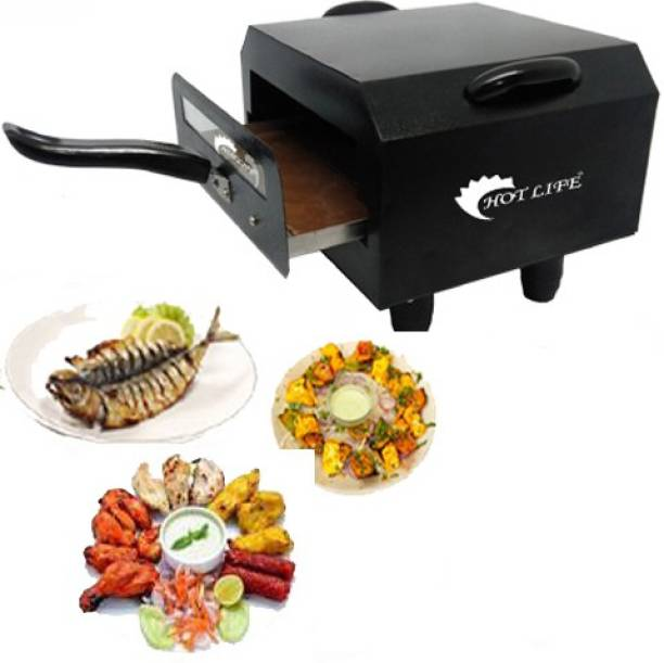 HOT LIFE Exclusive Premium HB-6325 Electric Tandoor with Extra Savings 10 inches Shocked Proof, Oil Free and Healthy Cooking 1500W Small Electric Tandoor Comboo (Black) Electric Tandoor