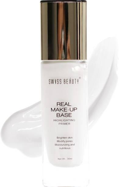 SWISS BEAUTY Real Makeup Base Highlighting Primer, Face Makeup, Shade-03 ,30 ml Primer  - 30 ml