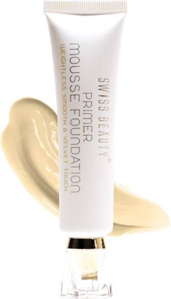 SWISS BEAUTY Primer Mousse Foundation, Face Makeup, Medium-Beige ,40 ml Primer  - 40 ml