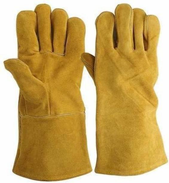 swabs Heavy Duty Welding Hand Gloves   Protective Durable Heat Resistant Welding Work Gloves   Leather Heat Resistance Gloves Cut Resistance Gloves Welding Gloves Leather  Safety Gloves