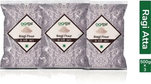 Goshudh Premium Quality Ragi Atta/Flour 500g Combo Pack Of 3