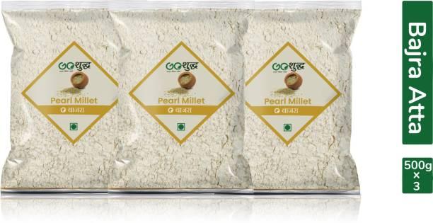 Goshudh Premium Quality Bajra/Pearl millet Atta/Flour 500g Combo Pack Of 3