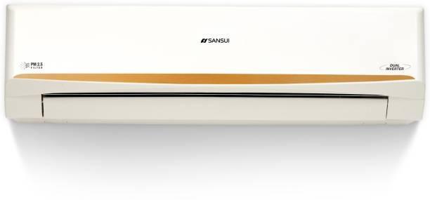Sansui 1.5 Ton 3 Star Split Dual Inverter AC with PM 2.5 Filter  - White, Gold