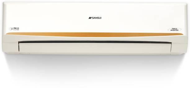 Sansui 1.5 Ton 5 Star Split Triple Inverter AC with PM 2.5 Filter  - White, Gold