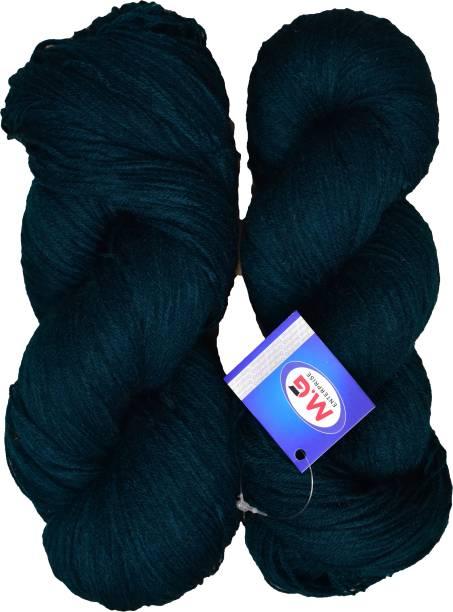 M. G ENTERPRISE Knitting Yarn 3 ply Wool, Teal 200 gm Best Used with Knitting Needles, Crochet Needles Wool Yarn for Knitting.
