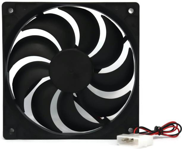 Electronicspices 12V DC 4.75 INCH Cooling Fan With molex connector For PC case, CPU cooler Cooler