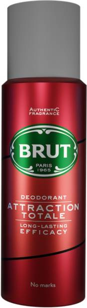 BRUT Attraction Deodorant for Men | Long Lasting Lime & Mandarin Fragrance 200ml Deodorant Spray  -  For Men