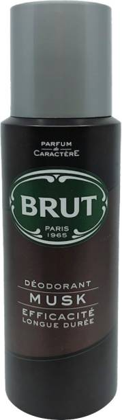 BRUT Musk Deodorant for Men | Long Lasting and Elegant Musky Fragrance 200ml Deodorant Spray  -  For Men