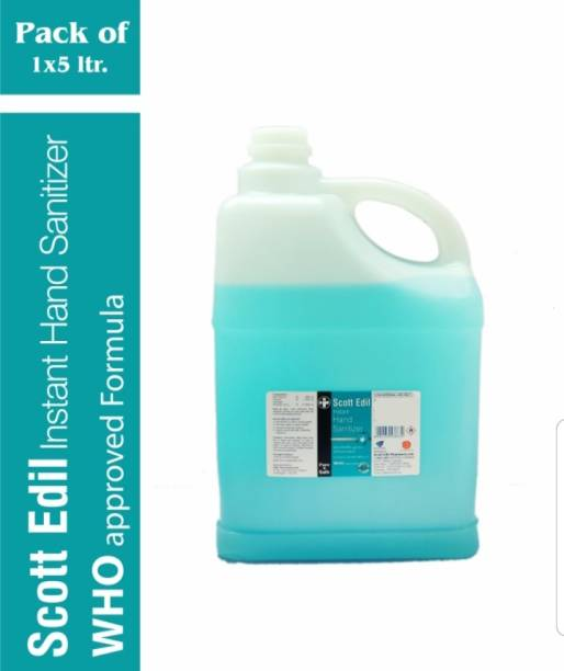 scott Edil Instant  with 80% Alcohol WHO Recommended Formula (5LX1) Hand Sanitizer Can