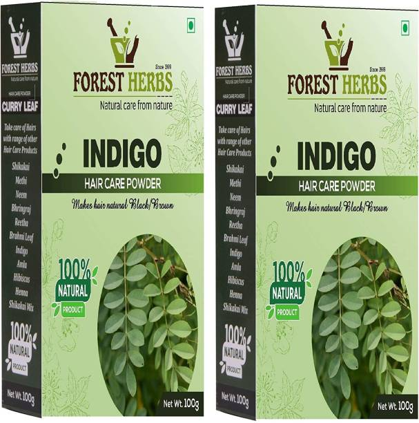 Forest Herbs Natural Organic Indigo Leaf Powder Pack of 2