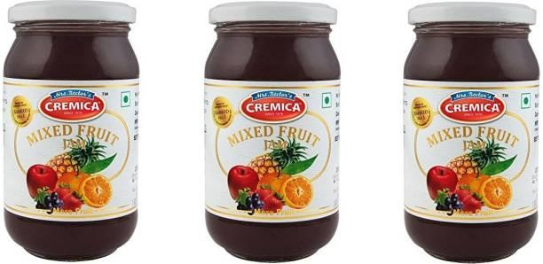 CREMICA Mixed Fruit Jam Pack of 3 1440 g