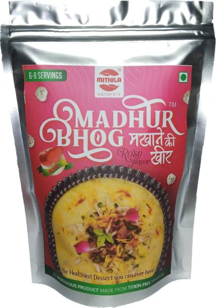 Mithila Naturals Madhur Bhog Instant Makhana Kheer - Rose Flavour 100 g