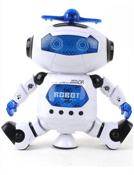 Miss & Chief Singing Dancing Naughty robot (White)