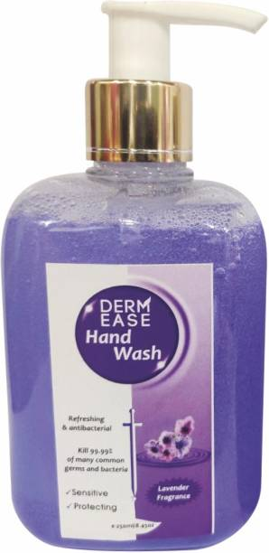 DERMEASE Hand Wash Enriched with Aloevera (100% Paraben free) With Goodness of Lavender (250ML) Hand Wash Pump Dispenser