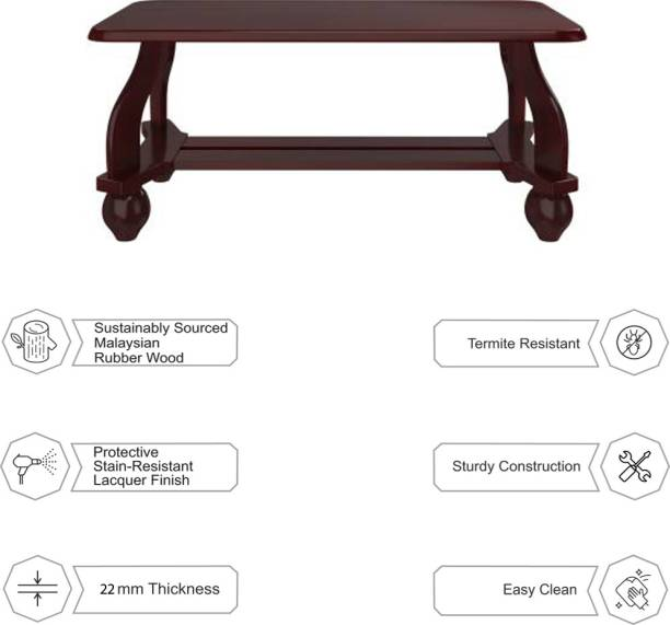 WOODNESS Ava Solid Wood Coffee Table