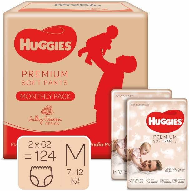 Huggies Premium Soft Pants diapers Monthly Box - M