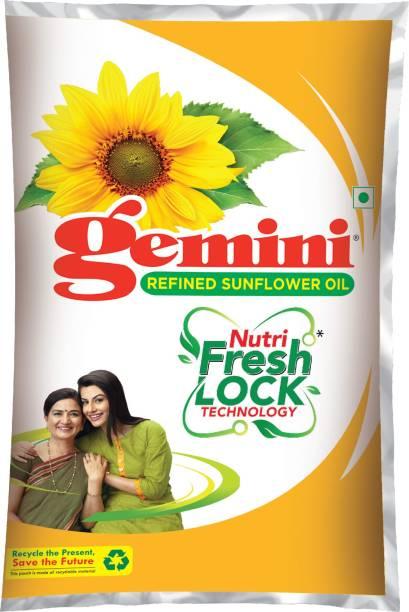 Gemini Refined Sunflower Oil Pouch