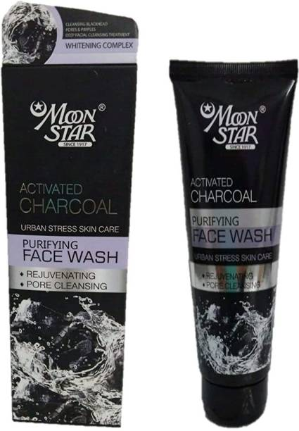 Moonstar Activated Charcoal , Purifying  - 100 ml Face Wash