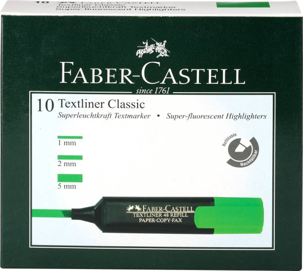 FABER-CASTELL Textliner Classic Green Pack