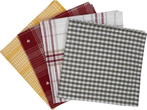 Flipkart SmartBuy Cotton Checks Napkins S4 Multicolor Napkins