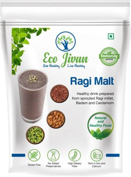 ECO JIVAN RAGI MALT NATURAL - WITHOUT SUGAR 200 g