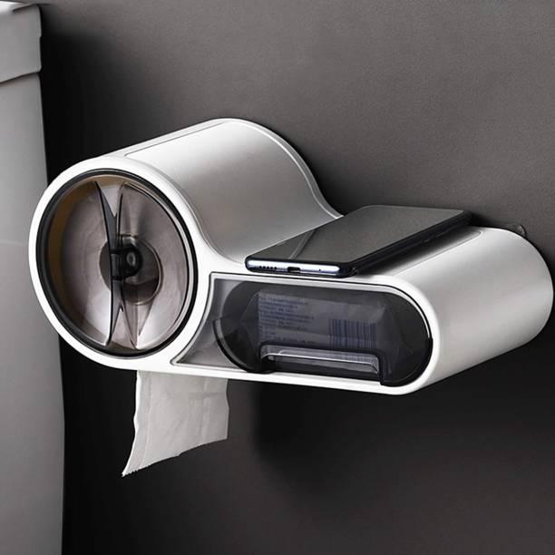 HOKiPO Magic Sticker Series Self Adhesive 100% Waterproof Toilet Paper Holder Plastic Toilet Paper Holder