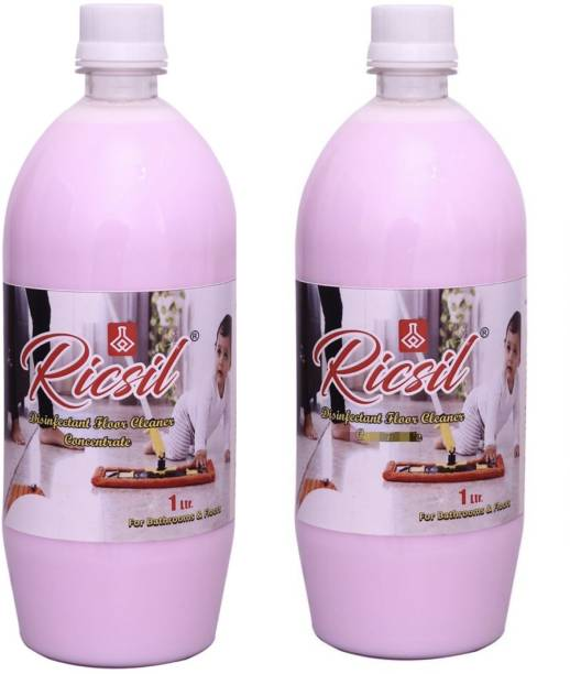 RICSIL Disinfectant Perfumed Floor Cleaner (Pack of 2) (2 litre) Pines