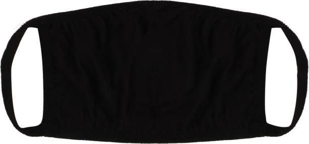 Vaishma Plain Black_reusable outdoor protection mask Plain Black