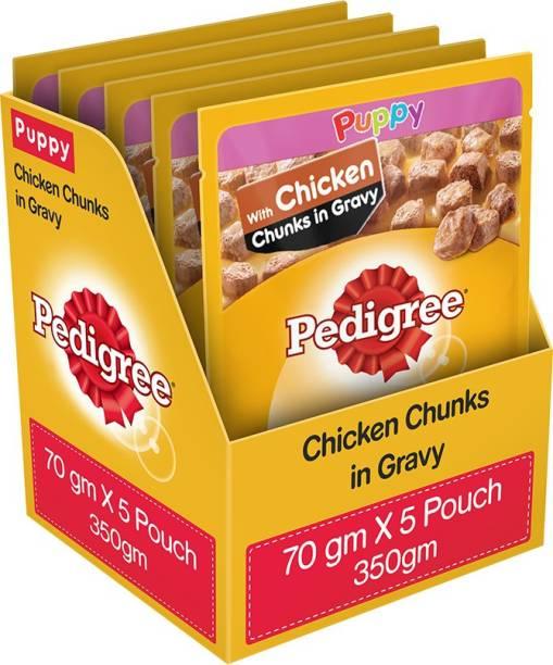 PEDIGREE Gravy Chicken 0.35 kg (5x0.07 kg) Wet Young, New Born Dog Food