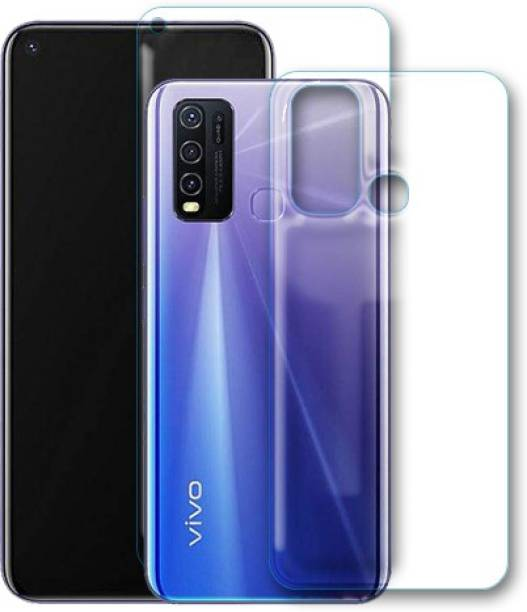 DVS MOBILE ACCESSORIES Front and Back Tempered Glass for Vivo Y50