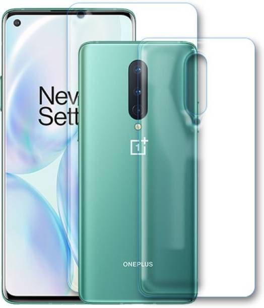 DVS MOBILE ACCESSORIES Front and Back Tempered Glass for OnePlus 8