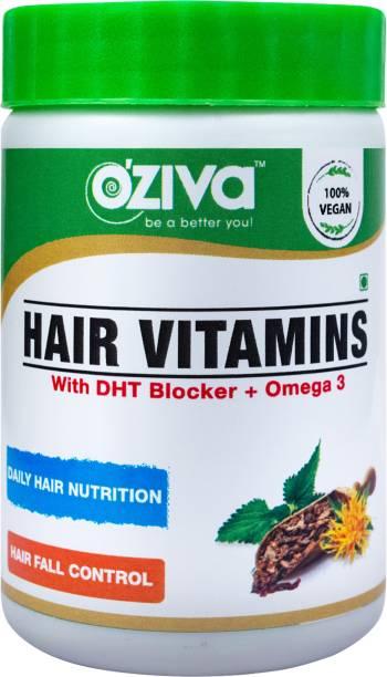OZiva Hair Vitamins (With DHT Blocker & Omega 3)
