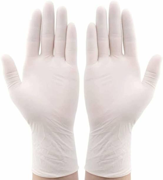 Oriley Disposable Latex Gloves Hand Protection Rubber Examination Glove for Hospital, Clinic, Sanitary & Kitchen-Large Rubber Surgical Gloves