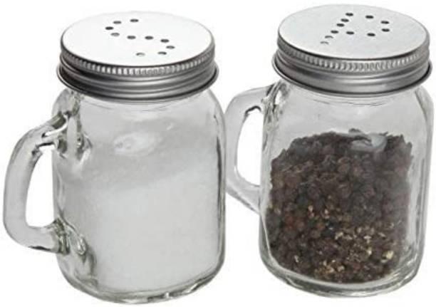 Joy2u Salt & Pepper Shaker Spice Holder Dispensers Pepper Condiment 125 ML_2 pcs 2 Piece Salt & Pepper Set