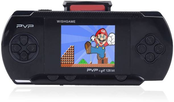 """Cyxus 4G PVP BLACK COLOR GAMING CONSOLE WITH 2.8"""" LCD DISPLAY 2 GB with Mario 1st, Mario 2nd"""