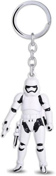 GCT Star Wars Stormtrooper Collectible (G-1) Black White Metal Keychain for Car Bike Men Women Keys Key Chain