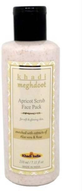 KHADI MEGHDOOT Apricot Face Scrub with Extract of Aloevera and Rose (210 ml) Scrub