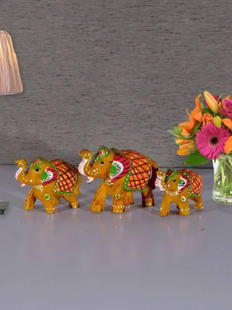 Flipkart SmartBuy Handcrafted S/3 Elephant Showpiece Decorative Showpiece  -  7.62 cm