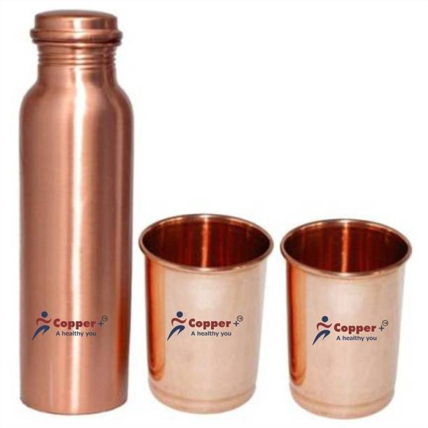 Copper + COPPER BOTTLE GIFT SET 1000 ml Bottle