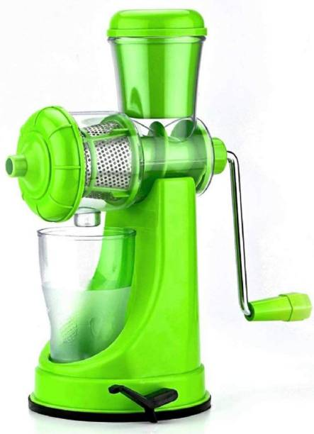 MYYNTI Plastic Hand Juicer Hand Juicer for Fruits and Vegetables with Steel Handle Vacuum Locking System Manual Juicer Machine
