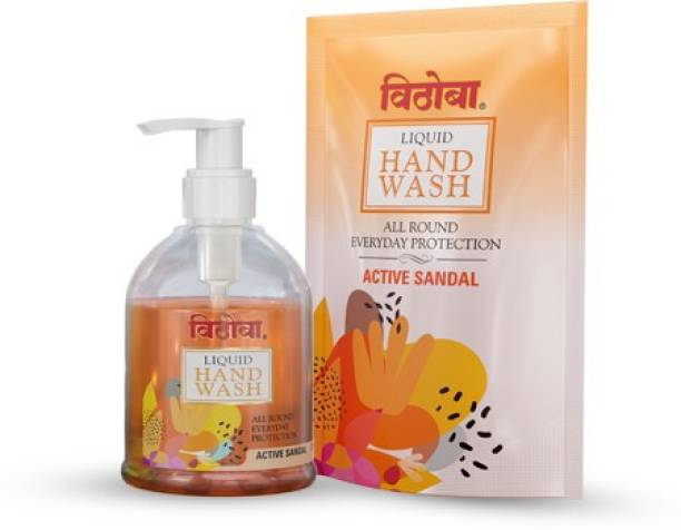 Vithoba Active Sandal Liquid Combo Pack Hand Wash Pump + Refill