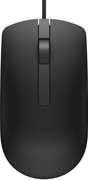 DELL MS 116 Wired Optical Mouse (3 YEAR WARRANTY )(USB, Black) Wired Optical  Gaming Mouse