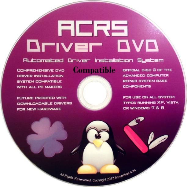 Compatible Universal Driver DVD for all PC Makers - Asus, Alen, Aer, Del, H, Copaq, Lenev, IB, Samung, Toshba & Moe