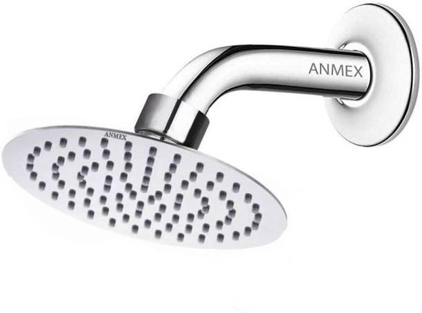 "ANMEX 4inch Ultra Thin SS Round (4"") Rain Shower Head Premium Quality with 9inch Round Arm Shower Head"