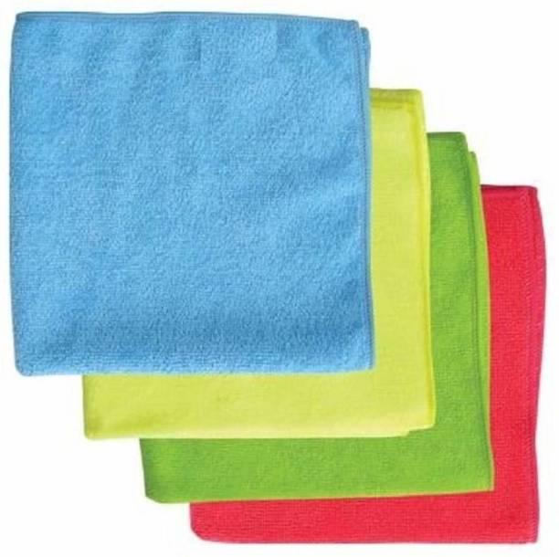 Scart Microfiber Cloth (Pack of 4 Pcs.) Multicolor Napkins