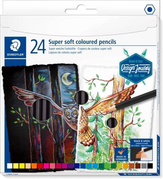 STAEDTLER 149 C24 Design Journey Hexagonal Shaped Color Pencils