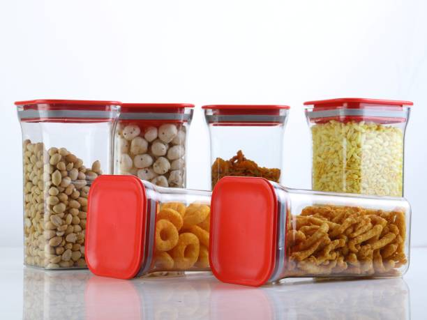 Shoptool Women's 1st Choice Unbreakable (Quality Improved) Airtight Transparent Jar / Grocery Container / Storage Container / Container sets / Storage Jar / Containers Combo / Masala Boxes / Freezer Safe Idle for Kitchen Storage Box / Container For Tea, Coffee, Sugar, Food, Grain, Rice, Pasta, Pulses, Spices Container Set  - 1100 ml Plastic Grocery Container