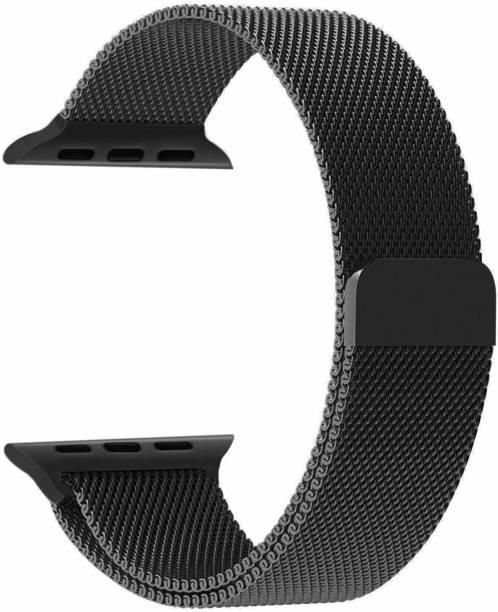 V-TAN PREMIUM REPLACEMENT iWATCH STRAP METAL 38/40MM-BLACK Smart Watch Strap